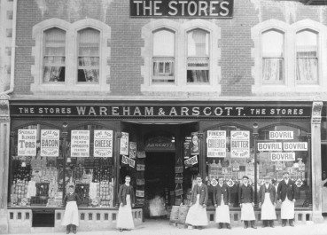 Wareham & Arscott Stores, a double-fronted shop