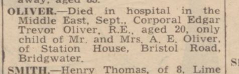 bath weekly chronicle 11 oct 1941 e t oliver