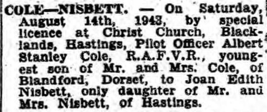 hastings and st leonards observer a s cole marries aug 21 1943 (2)