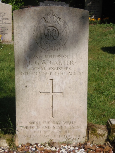 CWGC Headstone in Langton Long