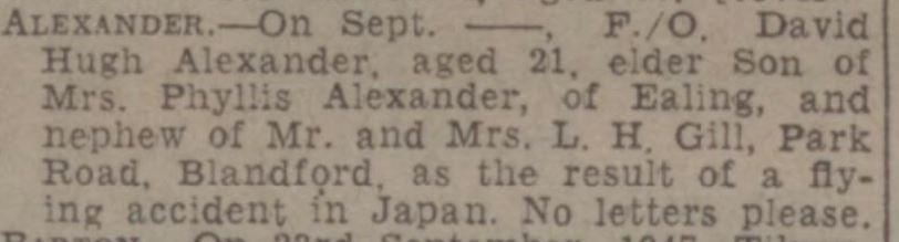 w gazz d h alexander oct 3 1947