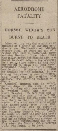 w gazz m h jupe inquest verdict june 23 1943