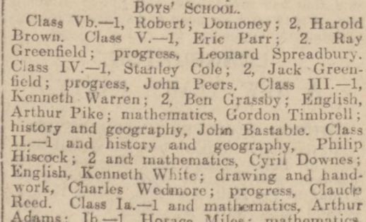 prize day 1933