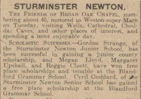 west gazz CJG wins scholarship at BGS Fri July 29 1932